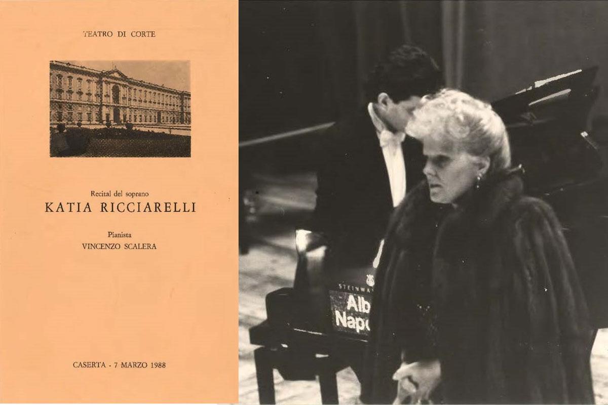Katia Ricciarelli a Caserta nel 1988