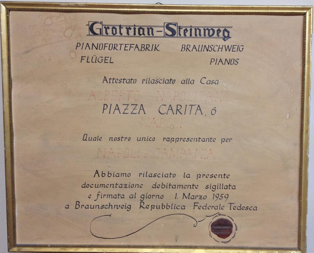 Attestato-Grotrian-1959-Alberto-Napolitano-Pianoforti-Napoli