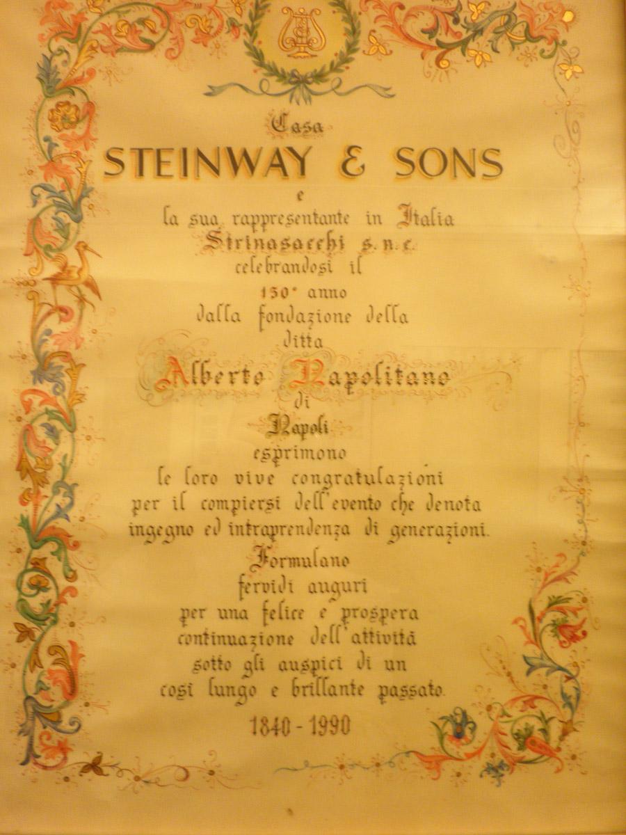 Pergamena-di-auguri-di-Steinway-&-Sons-per-i-150-anni-della-nostra-attività---Alberto-Napolitano-Pianoforti-Napoli