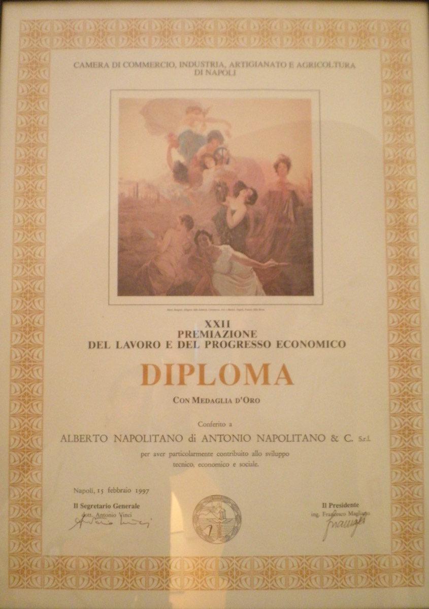 Premiazione-del-lavoro-e-del-congresso-economico---Medaglia-d'oro-dalla-Camera-di-Commercio-1997---Alberto-Napolitano-Pianoforti-Napoli