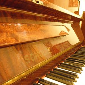 Pianoforte Scholze mogano usato