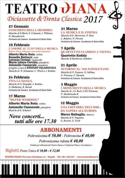 Locandina Teatro Diana - Alberto Napolitano Pianoforti