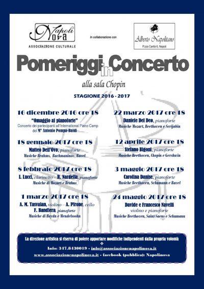 Pomeriggi in concerto in Sala Chopin - Alberto Napolitano Pianoforti Napoli