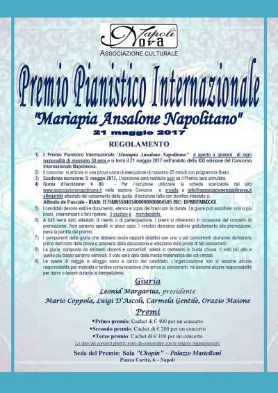 Premio Pianistico Internazionale Mariapia Ansalone Napolitano