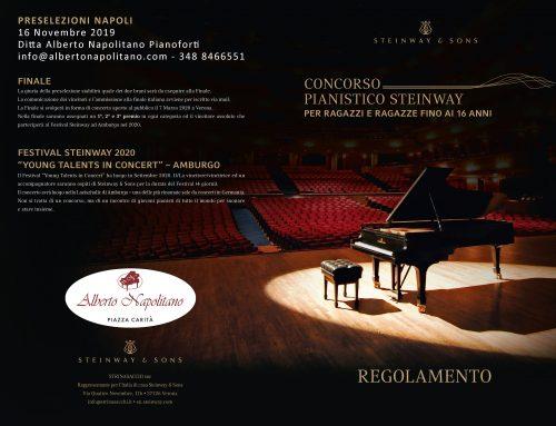 CONCORSO STEINWAY PER GIOVANI TALENTI 2019