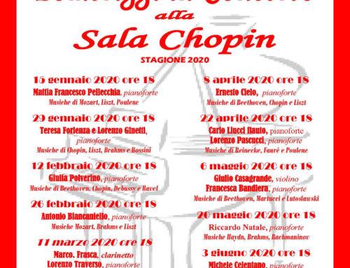POMERIGGI IN CONCERTO 2020 _ Sala Chopin